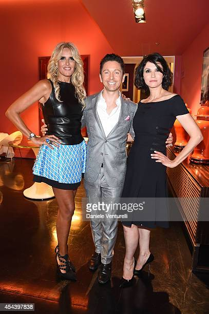 Tiziana Rocca Gianluca Mech and Alessandra Martines attend Tiziana Rocca Birthday Party during the 71st Venice Film Festival at Centurion Palace...