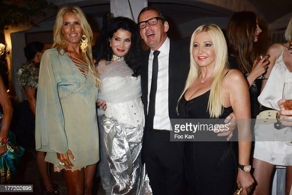 Tiziana Rocca Lamia Khashoggi Michel Leclerc and Monika Bacardi attend the Massimo Gargia's Birthday Dinner at Moulins de Ramatuelle on August 21...