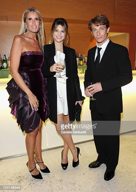 Tiziana Rocca Nicoletta Romanoff and Giorgio Pasotti attend the Gala Telethon during the 5th International Rome Film Festivalat Palazzo delle...