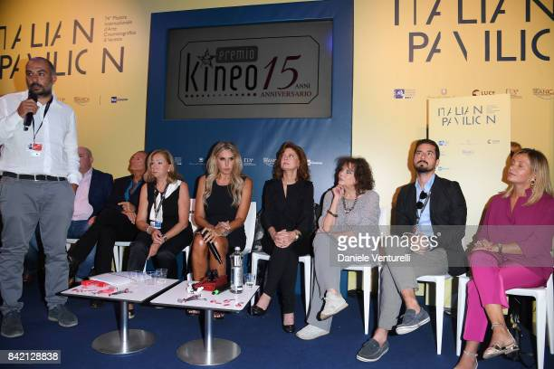 Tiziana Rocca Susan Sarandon and Claudia Cardinale attend the Kineo Diamanti Awards press conference during the 74th Venice Film Festival at on...