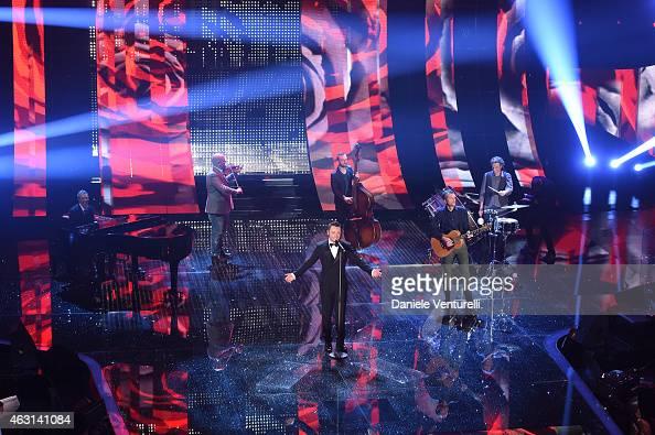 Tiziano Ferro attends the opening night of the 65th Festival di Sanremo 2015 at Teatro Ariston on February 10 2015 in Sanremo Italy