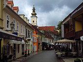 Tkalciceva Street in Zagreb Croatia