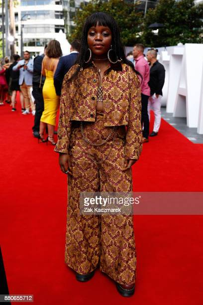 Tkay Maidza arrives for the 31st Annual ARIA Awards 2017 at The Star on November 28 2017 in Sydney Australia