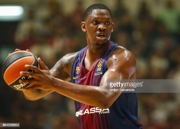 TKevin Seraphin of Barcelona in action during the 2017/2018 Turkish Airlines EuroLeague Regular Season game between Crvena Zvezda mts Belgrade and FC...