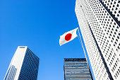 東京、新宿、高層ビル、都市の風景