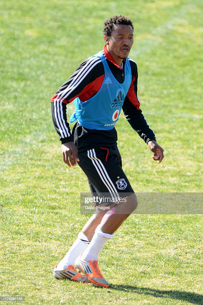 Tlou Segolela during the Orlando Pirates media open day at Rand Stadium on July 25, 2013 in Johanesburg, South Africa.