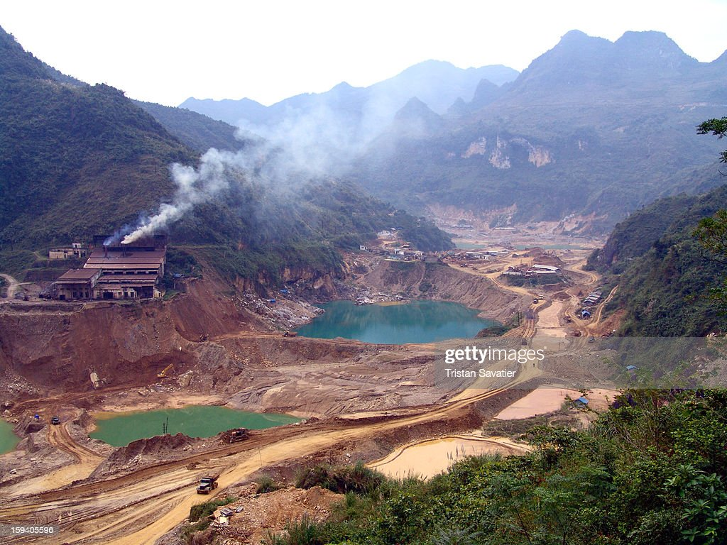 CONTENT] Tình Túc (Tinh Tuc) is an active tin strip mine (Vietnam). A strip mine, like this one, is an 'open-pit' mine, where the ore is taken from the ground rather than from underground. The environmental impact of strip mines is often serious and obvious.