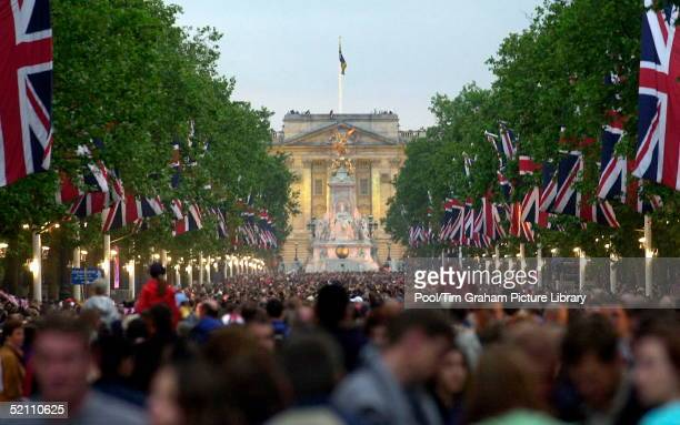 To Celebrate Her Golden Jubilee The Queen Is Hosting 'party At The Palace' A Pop Concert Held In The Grounds Of Buckingham Palace A Large Crowd...