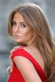 To celebrate Vodafone's sponsorship of London Fashion Week and London Fashion Weekend Millie Mackintosh samples the new Vodafone Red nail polish...