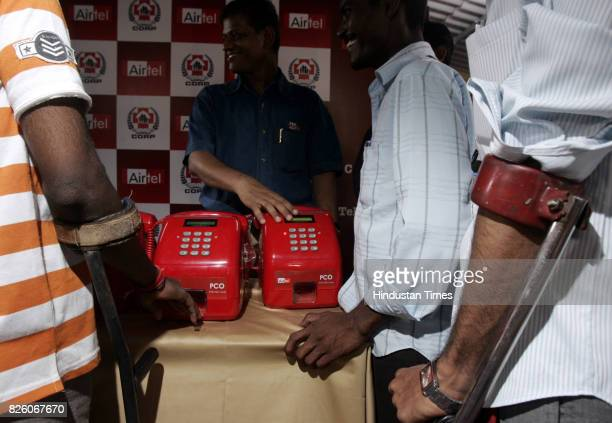 PCO To commemorate The World Telecom Day on May 17 Bharti AIRTEL telecom company on Friday donated 30 mobile PCOs to physically challenged slum...