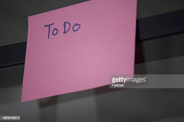 To Do list, close-up