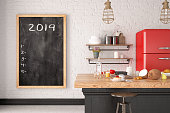 New year 2019 to do list on black board
