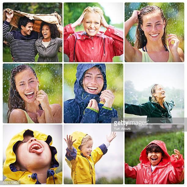 Para disfrutar de la Torre rainbow, la primera Disfrute de la lluvia