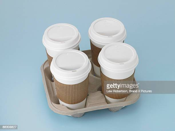 To go coffee cups in carton