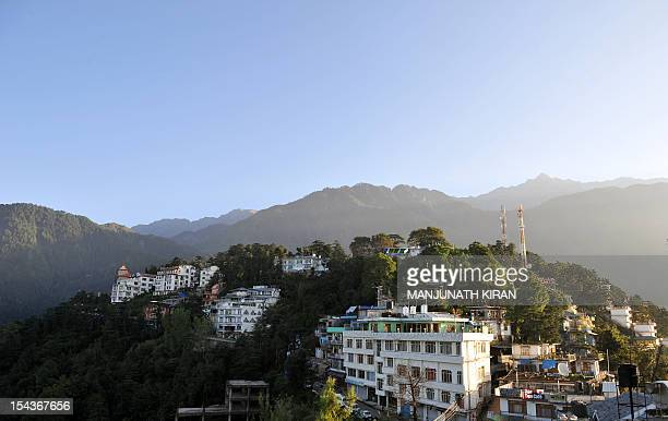 To go with AFP story 'IndiaTibettraveltourismreligionFEATURE' by Ben Sheppard This picture taken on September 25 2012 shows a general view of...