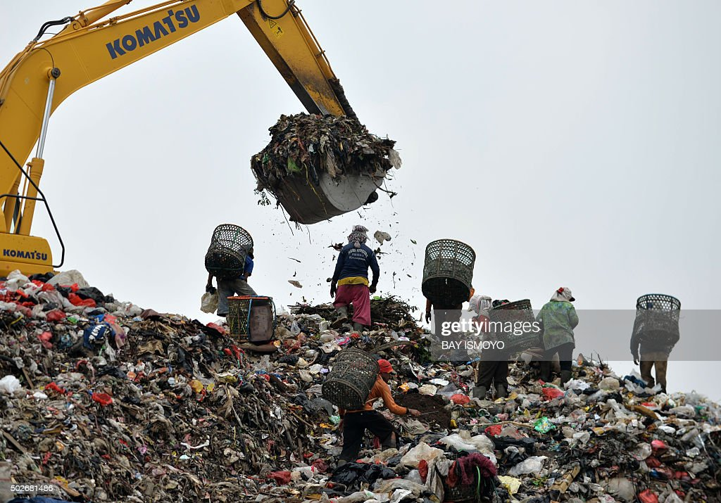 To go with afp story indonesia waste environment feature for Best out of waste environment