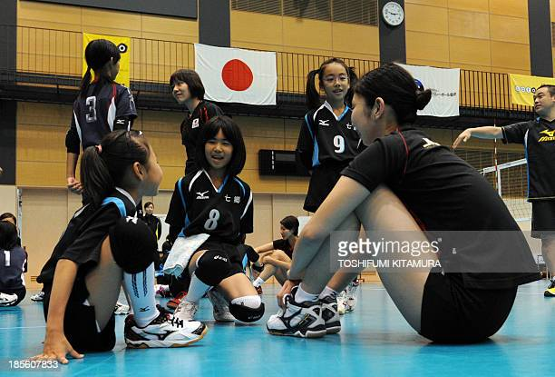 To go with AFP story 'JapanOly2020JPNmedals' FOCUS by SHIGEMI In a picture taken on October 20 Japanese volleyball national team player Nana Iwasaka...
