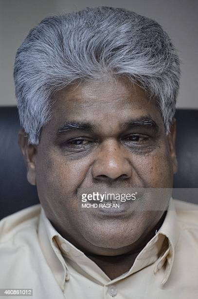 To go with AFP story MalaysiaeconomyrightslabourelectronicsFEATURE by Satish Cheney This photo taken on November 24 2014 shows MTUC's...