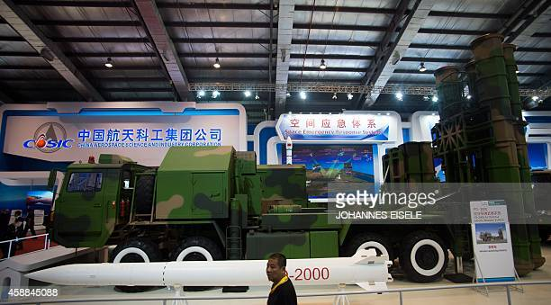 To go with Chinaaerospacedefence by BILL The FD 200 Air Defence Missile Weapon System is seen on display at the Airshow China 2014 in Zhuhai south...