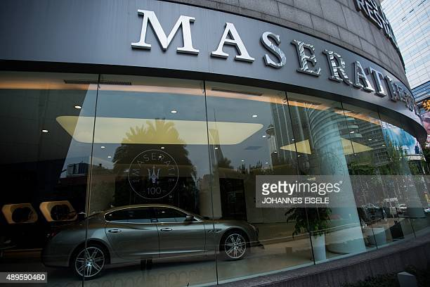 To go with ChinaeconomyautoFOCUS by Bill Savadove A Maserati showroom run by Chinese luxury automobile dealer Sunfonda Group is seen in Shanghai on...