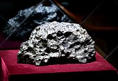 To go with ChinaspaceluxurylifestyleoffbeatFEATURE by Tom HANCOCK This picture taken on September 19 2014 shows one of the dozens of meteorite...