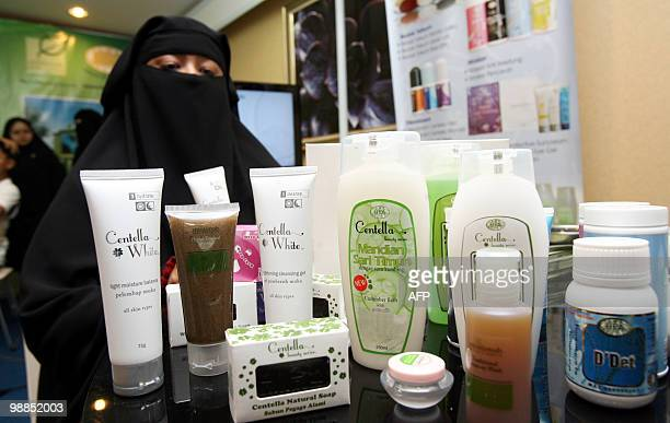 To go with feature story LifestyleMalaysiacosmeticsIslamhalal by Beh Lih Yi This photo taken on 14 April 2010 shows Muslimah Skincare and Cosmectics...