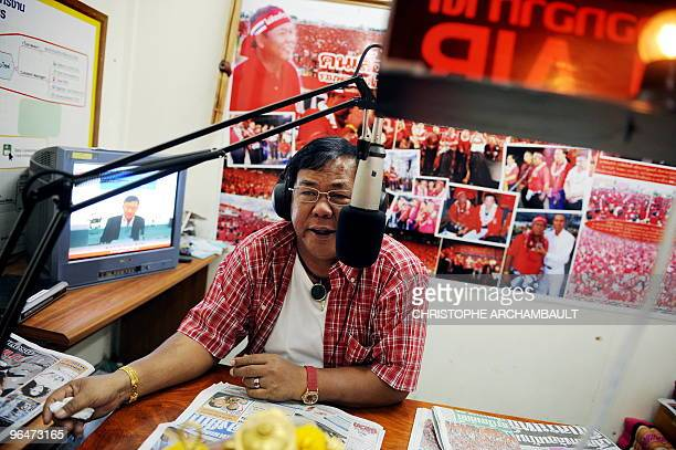 To go with feature story Thailandpoliticsprotestsociety by Rachel O'Brien A picture taken on January 13 2009 shows local Thai 'Red Shirts' leader and...