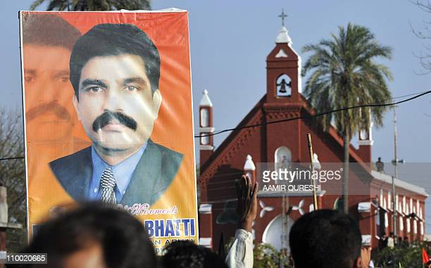 To go with 'PakistanunrestminoritiesreligionFOCUS' by Khurram ShahzadThis photograph taken on March 4 shows Pakistani Christians as they attend a...