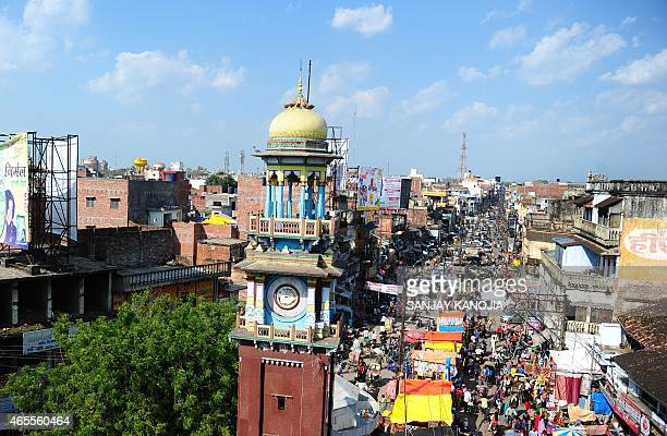 To go with story 'Indiaeconomyurbanisation' by Trudy HARRIS This photograph taken on March 4 2015 shows the famous clock tower located in the middle...