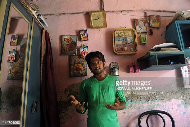 To go with story 'IndiamediasocialpovertytechnologyFEATURE' by Rachel O'Brien Video journalist and slum dweller Amol Lalzare speaks to a journalist...