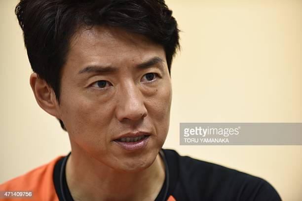 To go with TennisNishikoriJPNINTERVIEW by Alastair Himmer Former Japanese tennis star Shuzo Matsuoka answers questions during an exclusive interview...