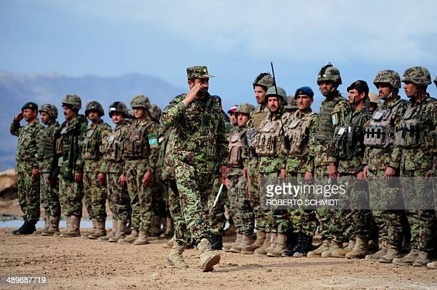 To go with unrestAfghanistanarmyFEATURE by Edouard Guihaire In this picture taken on March 17 Afghan National Army troops attached to the 4th Brigade...