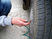 to inflate the automobile tire, to control the air level of the automobile wheels,