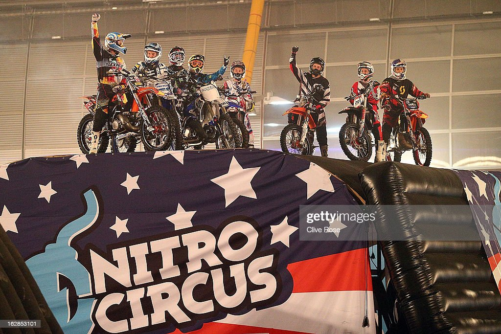 To launch the release of Nitro Circus 3D : The Movie, available on DVD 25th March, Team Nitro Circus sets a Guinness World Record at 02 Arena on February 28, 2013 in London, England. The stunt consists of 18 daredevils trying to simultaneously back-flip motorcycles within dangerous proximity to each other, as they attempt to smash a Guinness World Record.