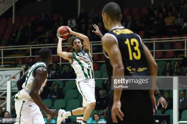 to pass of Ariel Filloy of Sidigas Avellino during third day of Champions League match between Sidigas Avellino v Oostende at Palasport Giacomo Del...