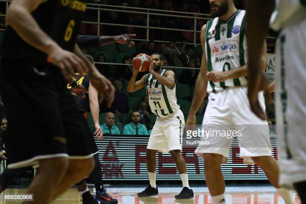 to pass of Thomas Scrubb of Sidigas Avellino during third day of Champions League match between Sidigas Avellino v Oostende at Palasport Giacomo Del...