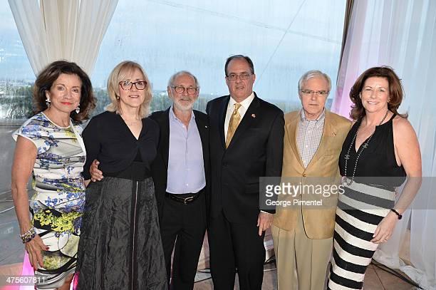 L to R Carol R Hill Canadian Talent FundÊCarolle Brabant Executive Director of Telefilm CanadaÊNorman JewisonÊJames Villeneuve Consul General of...