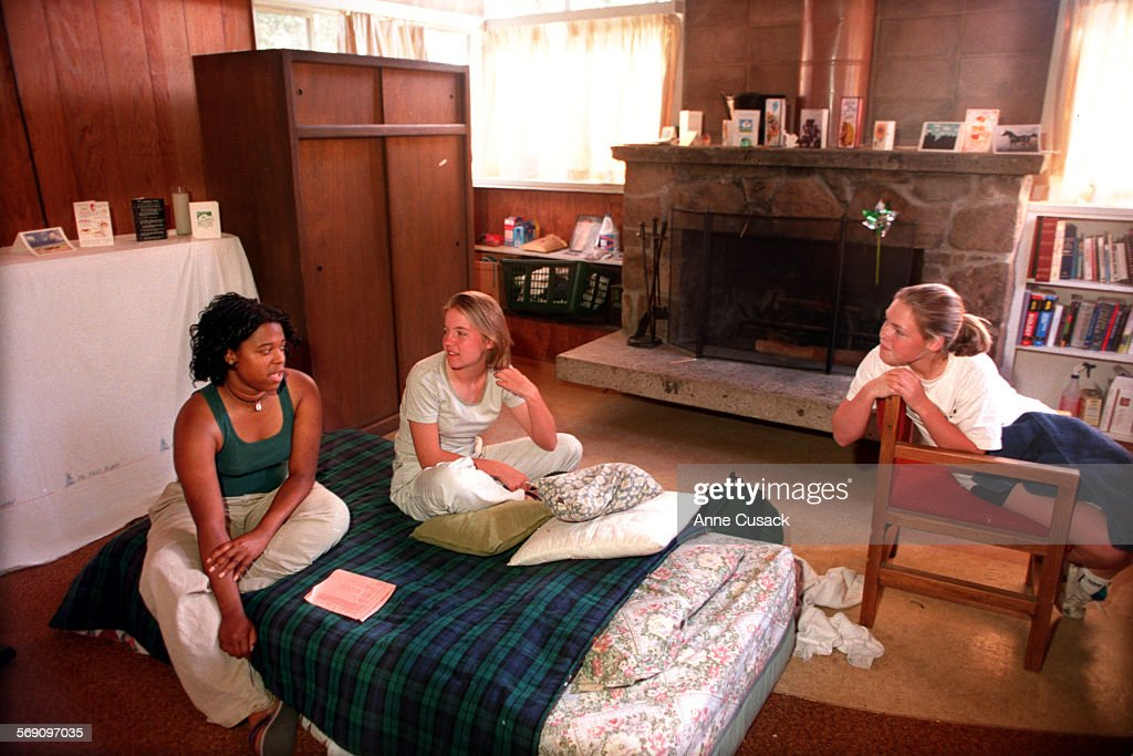 Perfect L To R Erica Moore Age 17 And A Senior In Her Dorm Room Talks With Part 23