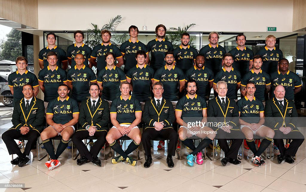 Assistant coach Ricardo Loubscher, <a gi-track='captionPersonalityLinkClicked' href=/galleries/search?phrase=Bryan+Habana&family=editorial&specificpeople=221391 ng-click='$event.stopPropagation()'>Bryan Habana</a>, assistant coach <a gi-track='captionPersonalityLinkClicked' href=/galleries/search?phrase=Johann+van+Graan&family=editorial&specificpeople=8821073 ng-click='$event.stopPropagation()'>Johann van Graan</a>, <a gi-track='captionPersonalityLinkClicked' href=/galleries/search?phrase=Jean+de+Villiers&family=editorial&specificpeople=2285701 ng-click='$event.stopPropagation()'>Jean de Villiers</a>, coach <a gi-track='captionPersonalityLinkClicked' href=/galleries/search?phrase=Heyneke+Meyer&family=editorial&specificpeople=630057 ng-click='$event.stopPropagation()'>Heyneke Meyer</a>, <a gi-track='captionPersonalityLinkClicked' href=/galleries/search?phrase=Victor+Matfield&family=editorial&specificpeople=227167 ng-click='$event.stopPropagation()'>Victor Matfield</a>, team manager Ian Schwartz, <a gi-track='captionPersonalityLinkClicked' href=/galleries/search?phrase=Ruan+Pienaar&family=editorial&specificpeople=591032 ng-click='$event.stopPropagation()'>Ruan Pienaar</a>, assistant coach John McFarland. Middle: <a gi-track='captionPersonalityLinkClicked' href=/galleries/search?phrase=Patrick+Lambie&family=editorial&specificpeople=6849711 ng-click='$event.stopPropagation()'>Patrick Lambie</a>, Handre Pollard, Cornal Hendricks, <a gi-track='captionPersonalityLinkClicked' href=/galleries/search?phrase=Jan+Serfontein&family=editorial&specificpeople=9454171 ng-click='$event.stopPropagation()'>Jan Serfontein</a>, <a gi-track='captionPersonalityLinkClicked' href=/galleries/search?phrase=Marcell+Coetzee&family=editorial&specificpeople=7755005 ng-click='$event.stopPropagation()'>Marcell Coetzee</a>, <a gi-track='captionPersonalityLinkClicked' href=/galleries/search?phrase=Damian+de+Allende&family=editorial&specificpeople=9897323 ng-click='$event.stopPropagation()'>Damian de A