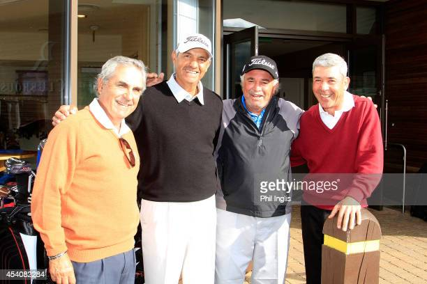 L to R Luis Carbonetti of Argentina Cesar Monasterio of Argentina Angel Franco of Paraguay and Jorge Berendt of Argentina pose after the final round...