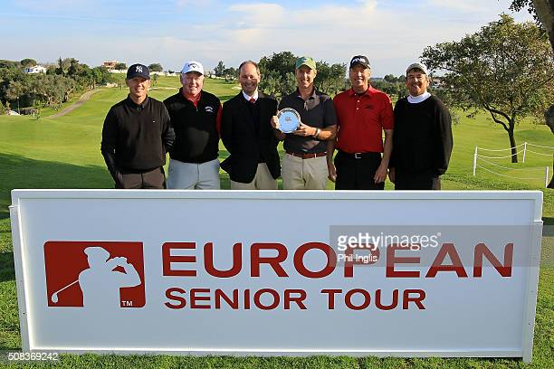 L to R Magnus P Atlevi of Sweden Brendan McGovern of Ireland Andy Stubbs representing European Senior Tour Gary Marks of England Barry Conser of...