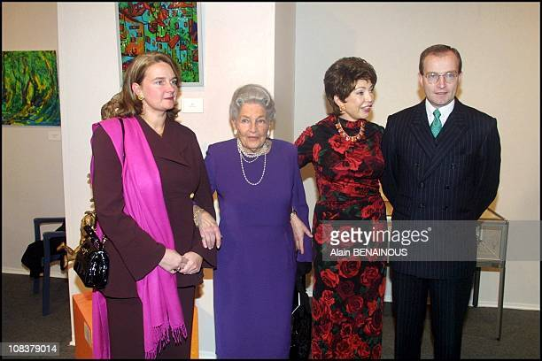 L to R Mathilde von Wurtemberg Countess of Paris Diane and her son the Duke Michel in Paris France on December 06 2000