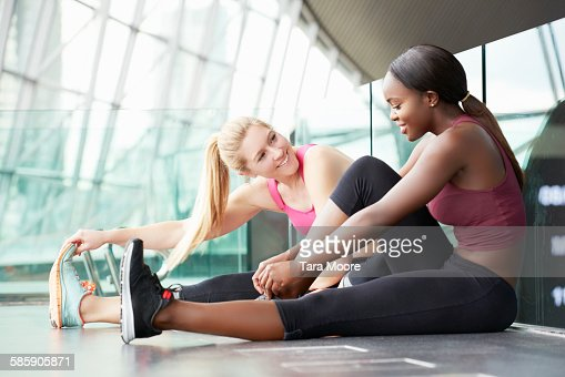 to sports women stretching