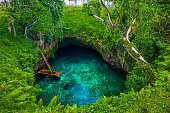 To Sua ocean trench - famous swimming hole, Upolu island, Samoa, South Pacific
