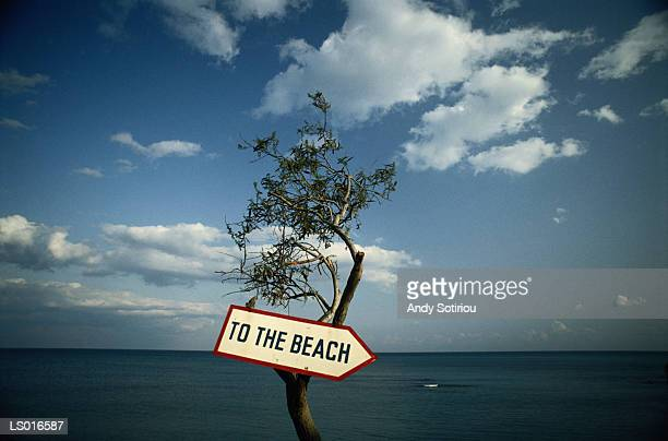 'To the Beach' Sign