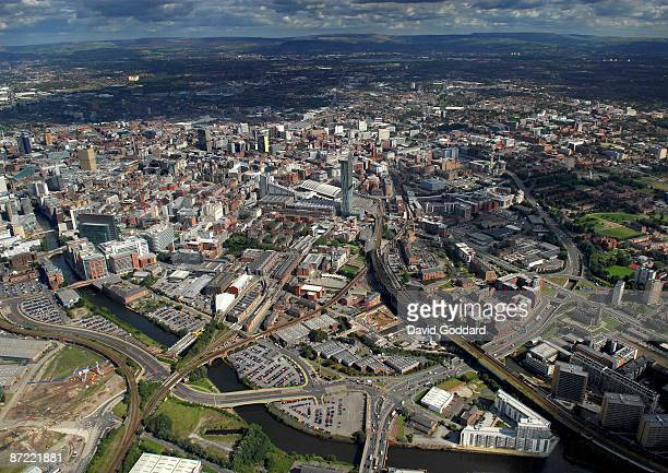 To the west of the Pennine hills and 30 miles east of Liverpool is the major northern city of Manchester on 3rd September 2007
