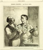 �To think that there are people who drink absinthe in a country which produces wine as good as this� Illustration from �Journal Amusant�