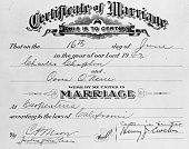 To Whom It May Concern Carpinteria California This is the marriage certificate of 54 year old movie funnyman Charles Chaplin and 18 year old Oona...