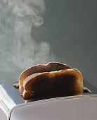 Toast burning in toaster