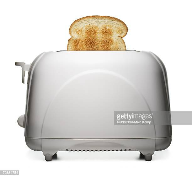 Toast slices in a toaster